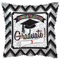Congratulations Graduate Pillow Square Foil 45cm