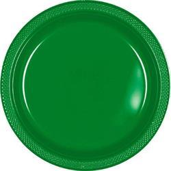 Plate Plastic 17.7cm Festive Spring Green