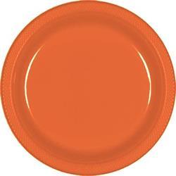 Plate Plastic 17.7cm Orange Peel
