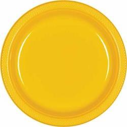 Plate Plastic 17.7cm Sunshine Yellow