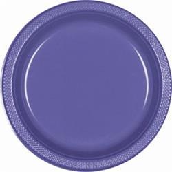Plate Plastic 17.7cm New Purple