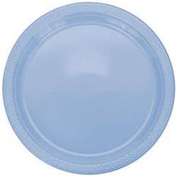 Plate Plastic 17.7cm Pastel Blue
