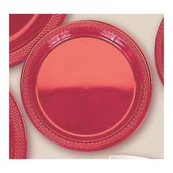 Plate Plastic 17.7cm Apple Red