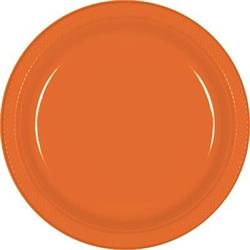 Plate Plastic 22.9cm Orange Peel