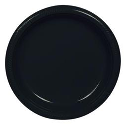 Plate Plastic 22.9cm Jet Black