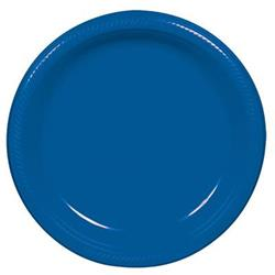 Plate Plastic 22.9cm Royal Blue
