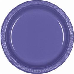 Plate Plastic 22.9cm New Purple