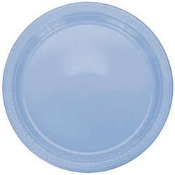 Plate Plastic 22.9cm Pastel Blue