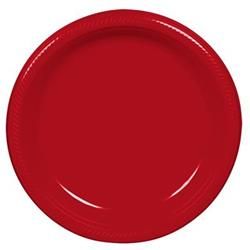 Plate Plastic 22.9cm Apple Red