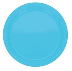 Plate Plastic 22.9cm  Caribbean Blue