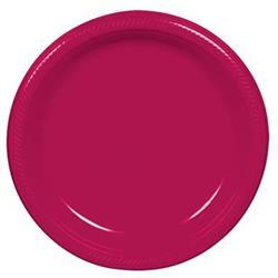 Plate Plastic 22.9cm Magenta