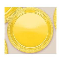 Plate Plastic 26cm Sunshine Yellow