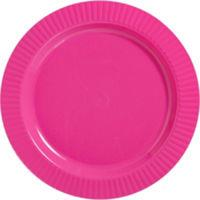 Plate Plastic 26cm Bright Pink