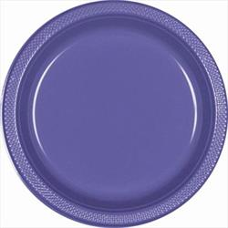 Plate Plastic 26cm New Purple
