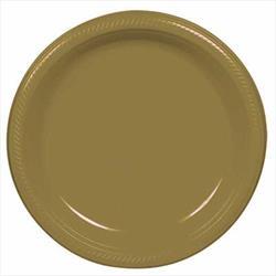 Plate Plastic 26cm Gold Sparkle