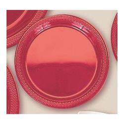 Plate Plastic 26cm Apple Red