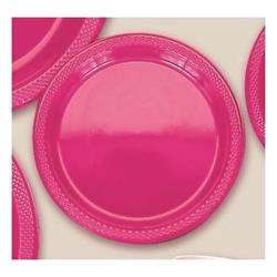 Plate Plastic 26cm Magenta