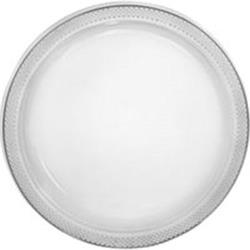 Plate Plastic 26cm Clear