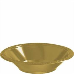 Bowl Plastic 355ml Gold Sparkle