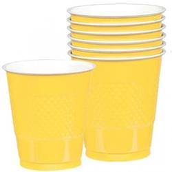 Cup Plastic 355ml SunshineYellow