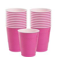 Cup Plastic 355ml Bright Pink