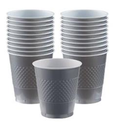 Cup Plastic 355ml Silver