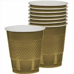 Cup Plastic 355ml Gold