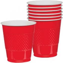 Cup Plastic 355ml Apple Red