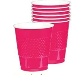 Cup Plastic 355ml Magenta