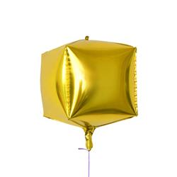 "Cube Shaped Foil 15"" - 38 cm Gold"