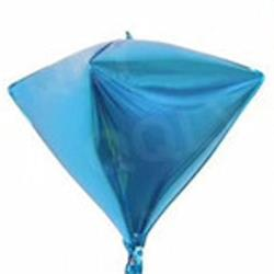 "Diamond Shaped Foil 15"" - 38 cm m Blue"