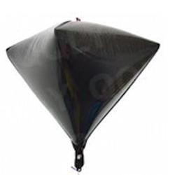 "Diamond Shaped Foil 15"" - 38 cm Black"