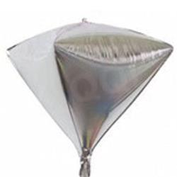 "Diamond Shaped Foil 15"" - 38 cm Silver"