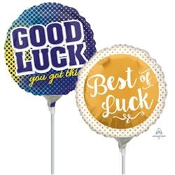 10cm printed Inflated Good Luck Assorted