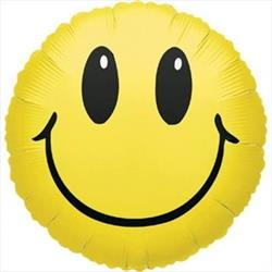 10cm printed Inflated Smiley Assorted