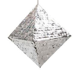 Pop Pinata Metallic Silver 40cm