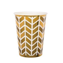 Pop Cup 9oz Gold Geometric