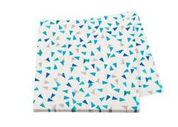Pop Napkin 3ply Blue and Silver Triangle