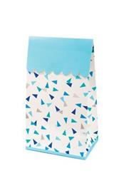 Pop Treat Bag Blue and Silver Triangle
