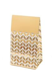 Pop Treat Bag Gold Geometric