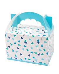 Pop Treat Box Blue and Silver Triangle