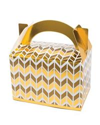 Pop Treat Box Gold Geometric
