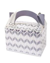 Pop Treat Box Silver Geometric