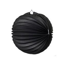 FS Accordian Lantern Black 25cm