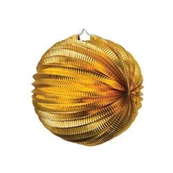 FS Accordian Lantern Metallic Gold 25cm