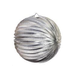 FS Accordian Lantern Metallic Silver 25cm