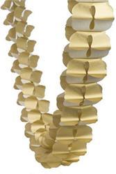 FS Honeycomb Garland Metallic Gold 4mtr