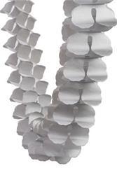 FS Honeycomb Garland Metallic Silver 4mtr