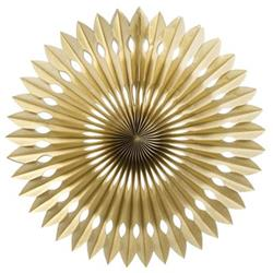 FS Hanging Fan Metallic Gold 40cm