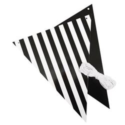 FS Bunting Reversible Black Stripe And Solid 3mtr